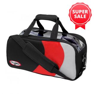COLUMBIA 300 PRO DOUBLE TOTE BLACK/RED/SILVER