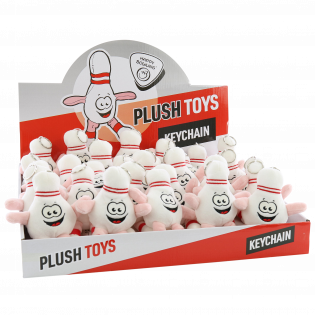 HAPPY BOWLING PLUSH TOY 15CM KEYCHAIN (DISPLAY BOX/30PCS)
