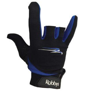 ROBBY'S THUMB SAVER GLOVE - BLACK/BLUE