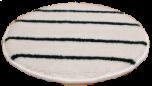 KEGEL BUFFING PAD - HEAVY DUTY (WHITE WITH GREEN STRIPES)